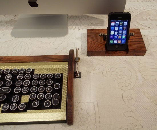 iPhone - iPod Dock -Charger and Sync Station - Oak - Brass style V3 - iPhone Dock iPod Dock
