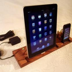 DUAL Unit - iPad - iPhone - iPod - with 4 USB Ports - Sync and Charging iDock Station iPad dock - iPhone4 Charging