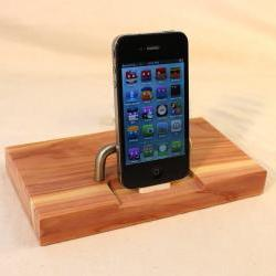 Cedar iPhone - iPod Dock -Charger and Sync Station - It's a Etsy Super Sale - Great Smell - Sliver style V2 iDock