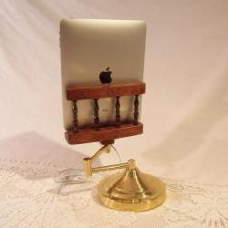 iPad - iPhone - iPod - Dock - Sync and Charging Station- Oak - Swing Wing Arm Style- Adjustable (Yes for the iPad )