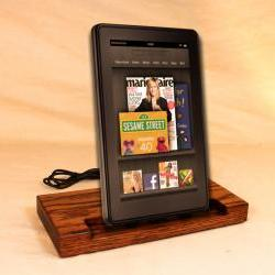 Kindle Fire - eReader - Charger and Sync Station - Oak - Brass style V1 Kindle Dock Touch